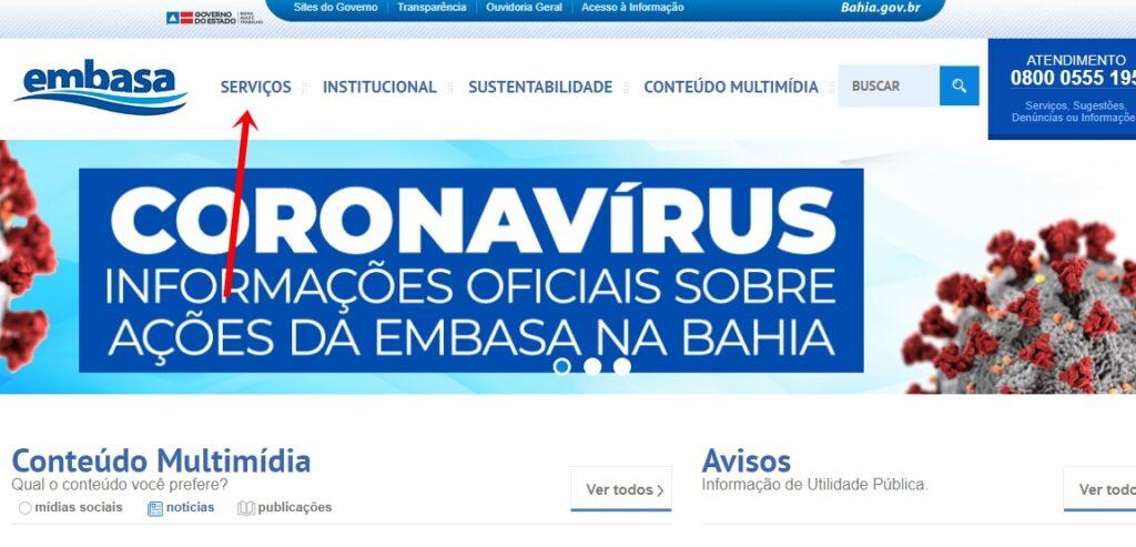 www Embasa BA gov br novo servicos segunda via